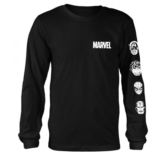 Tricou mânecă lungă Marvel Comics Stacked Heads