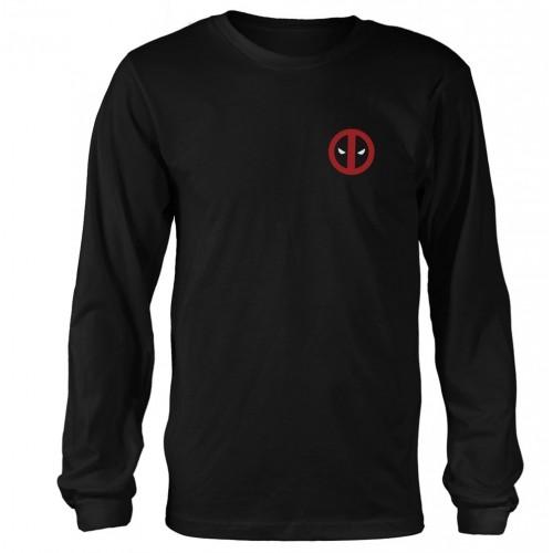 Tricou mânecă lungă Marvel Deadpool Fade Out Logo