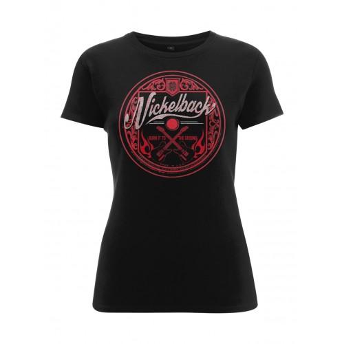 Tricou Damă Nickelback Pink Logo Circle