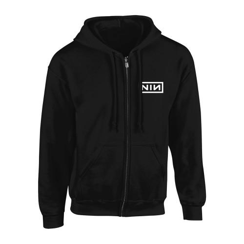 Hanorac cu fermoar Nine Inch Nails Classic White Logo
