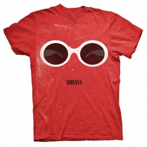 Tricou Nirvana Red Sunglasses
