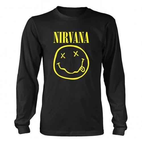 Tricou mânecă lungă Nirvana Smiley Logo