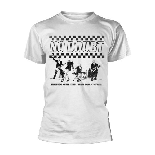 Tricou No Doubt Chequer Distressed