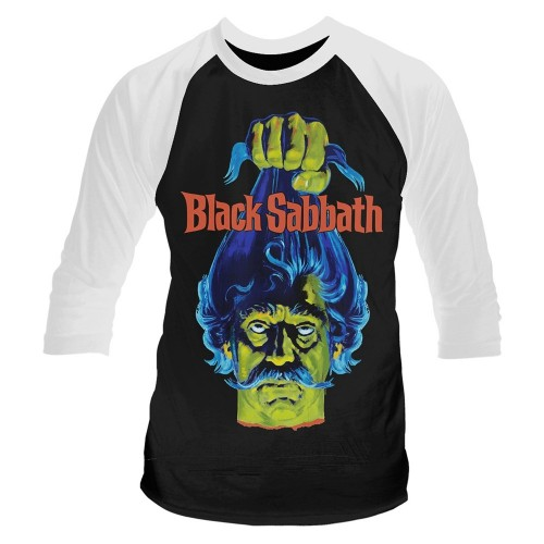 Tricou mânecă 3/4 Plan 9 - Black Sabbath Black Sabbath (Head)