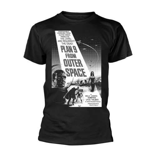 Tricou Plan 9 - Plan 9 From Outer Space Plan 9 From Outer Space - Poster (negru si alb)
