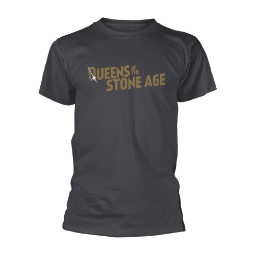 Tricou Queens Of The Stone Age Text Logo (metalic)