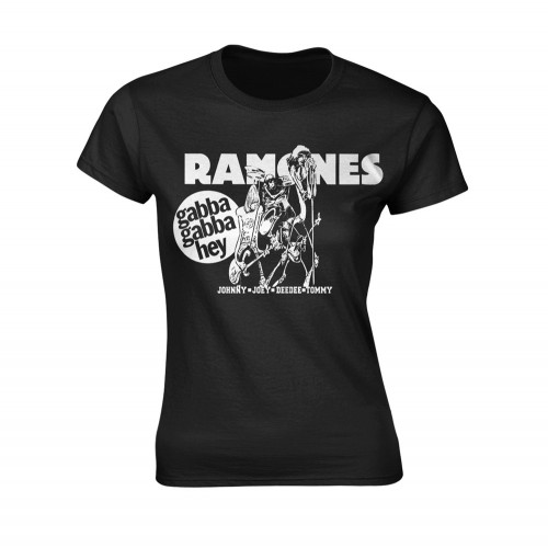 Tricou Damă Ramones Gabba Gabba Hey Cartoon