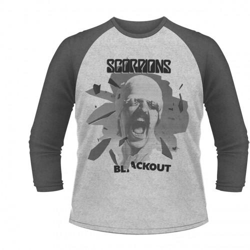 Tricou mânecă 3/4 Scorpions Black Out