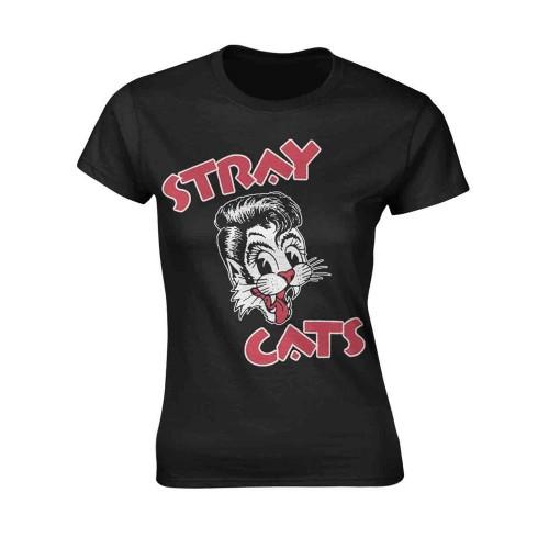 Tricou Damă Stray Cats Cat Logo