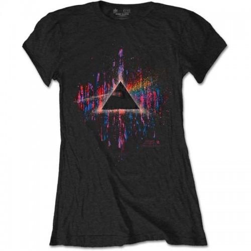 Tricou Damă Pink Floyd Dark Side of the Moon Pink Splatter