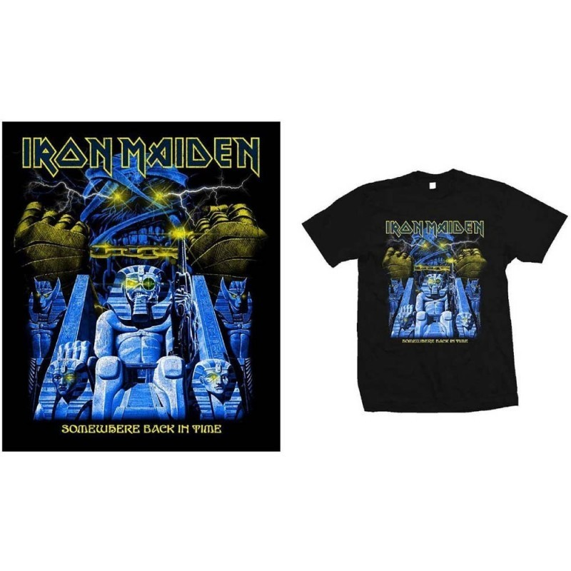 Tricou Iron Maiden Back in Time Mummy