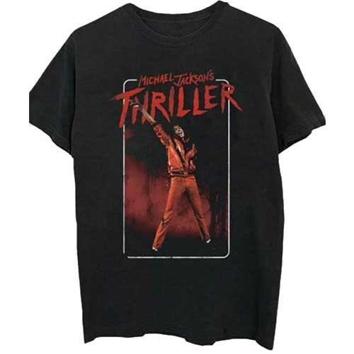 Tricou Michael Jackson Thriller White Red Suit