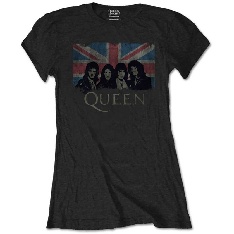 Tricou Damă Queen Union Jack Vintage