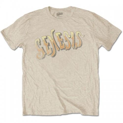 Tricou Genesis Vintage Logo - Golden