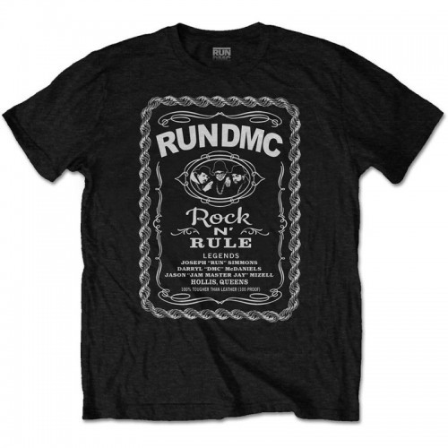 Tricou Run DMC Rock N' Rule Whiskey Label