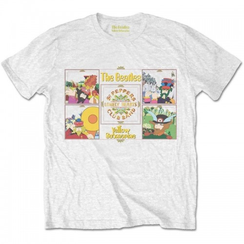 Tricou Beatles - The Yellow Submarine Sgt Pepper Band
