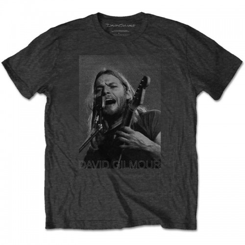 Tricou David Gilmour On Microphone Half-tone