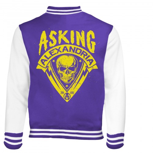 Jachetă Varsity Asking Alexandria Skull Shield