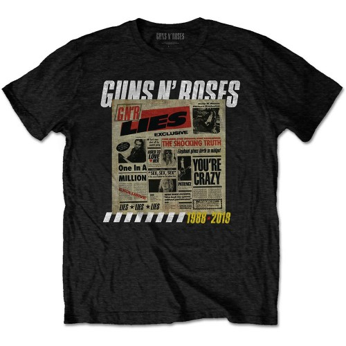 Tricou Guns N' Roses Lies Track List