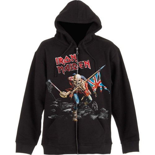 Hanorac cu fermoar Iron Maiden Scuffed Trooper