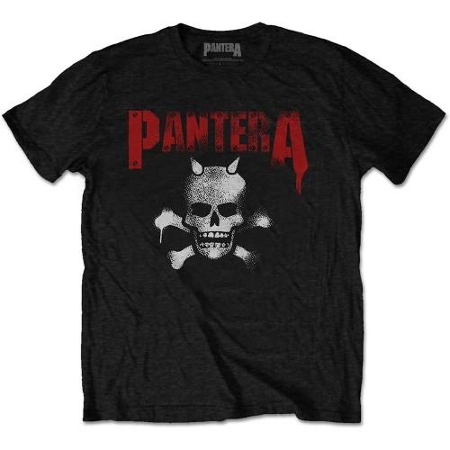 Tricou Pantera Horned Skull Stencil