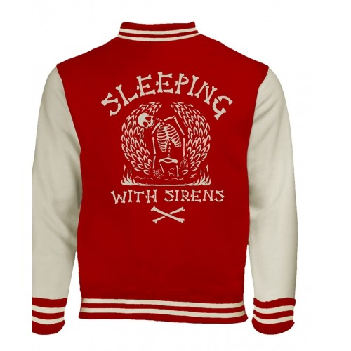 Jachetă Varsity Sleeping With Sirens Skeleton