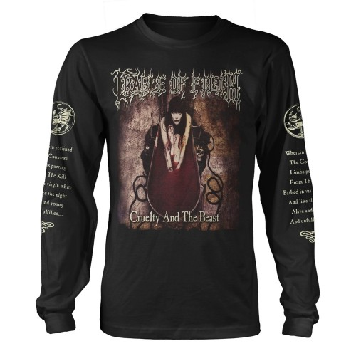 Tricou maneca lunga Cradle Of Filth Cruelty And The Beast