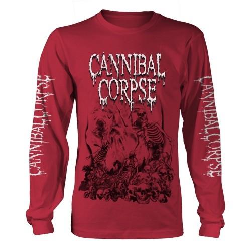 Tricou mânecă lungă Cannibal Corpse Pile Of Skulls 2018