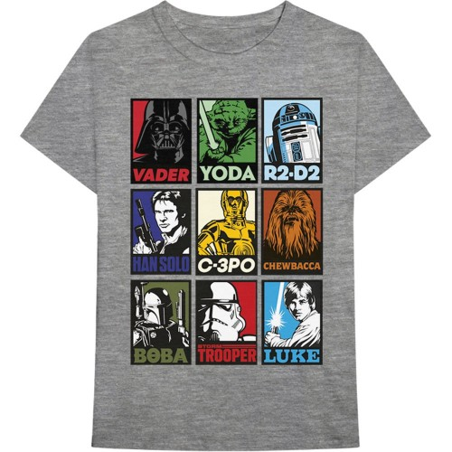 Tricou Star Wars Character Squares