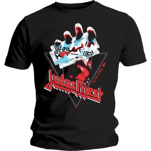 Tricou Judas Priest British Steel Hand Triangle