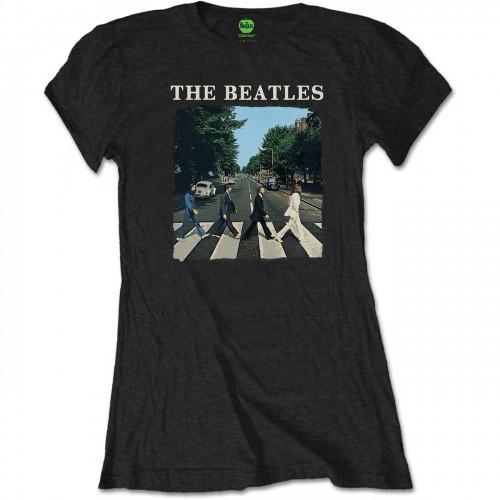 Tricou Damă The Beatles Abbey Road & Logo