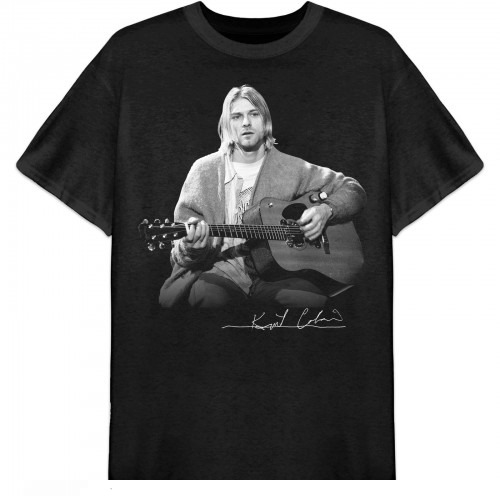 Tricou Kurt Cobain Guitar Live Photo