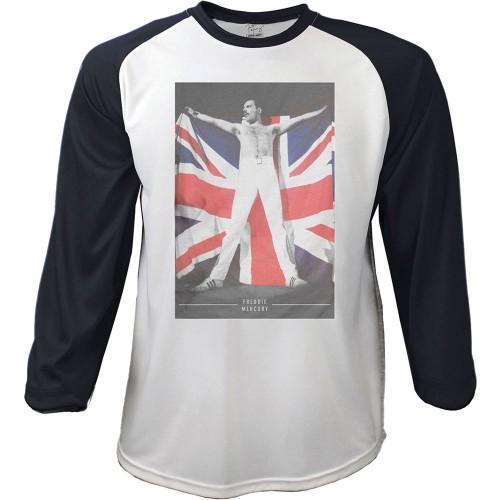 Tricou mânecă 3/4 Freddie Mercury Flag