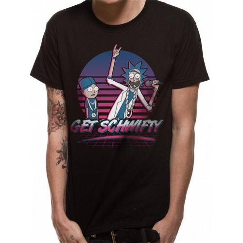Tricou Rick And Morty Get Schwifty Sunset