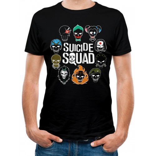 Tricou Suicide Squad Logo And Icons
