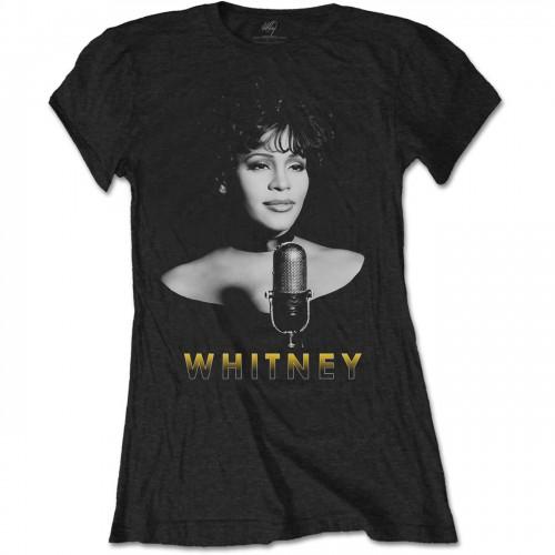 Tricou dama Whitney Houston Black & White Photo