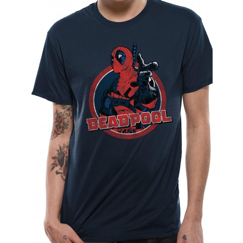 Tricou Marvel Deadpool Logo Point