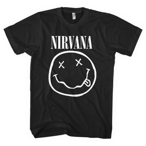 Tricou Nirvana White Smiley