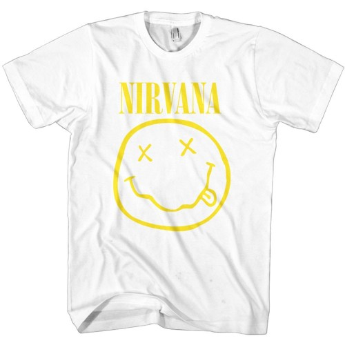 Tricou Nirvana Yellow Smiley