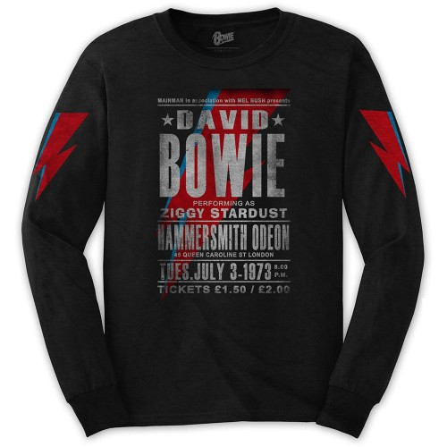 Tricou mânecă lungă David Bowie Hammersmith Odeon