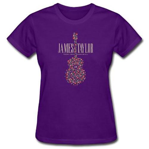 Tricou Damă James Taylor 2018 Tour Flower Guitar (Ex. Tour)