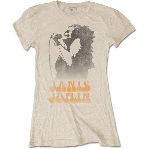 Tricou Damă Janis Joplin Working The Mic