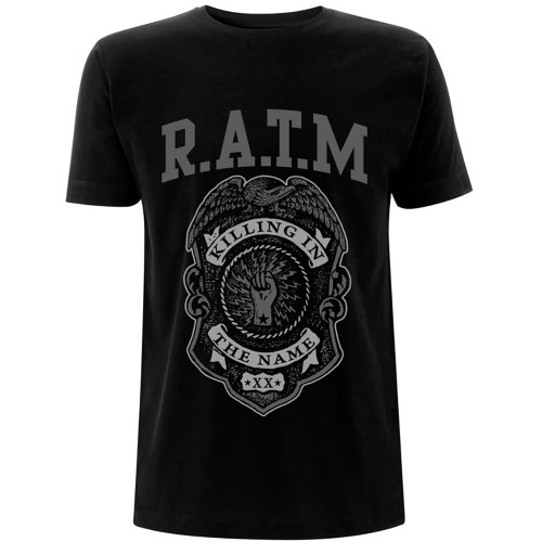 Tricou Rage Against The Machine Grey Police Badge