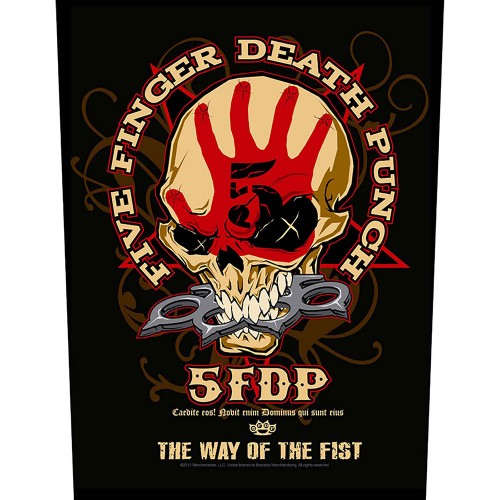 Back Patch Five Finger Death Punch Way Of The Fist