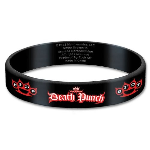 Bratara Silicon Five Finger Death Punch Logo
