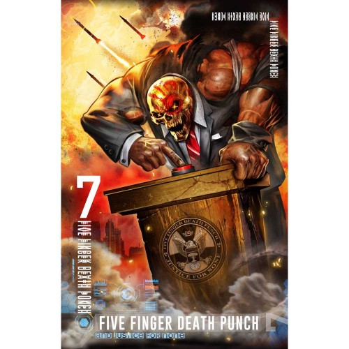 Poster Textil Five Finger Death Punch And Justice For None