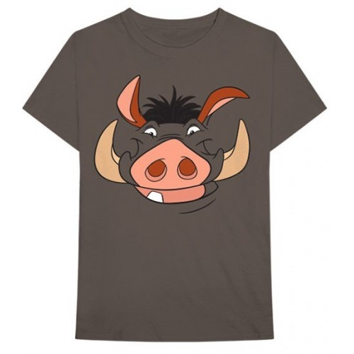 Disney Unisex Tee: Lion King Pumbaa (Back Print)