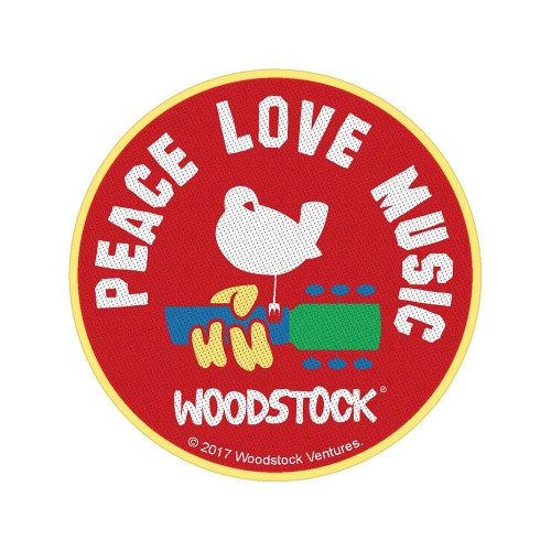 Patch Woodstock Peace Love Music