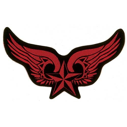 Patch Generic Winged Nautical Star