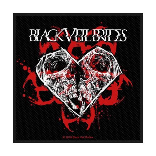 Patch Black Veil Brides Skull & Heart